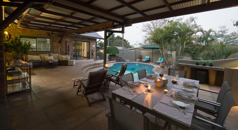 Private Pool Patio Two bedroom Guesthouse Nelspruit