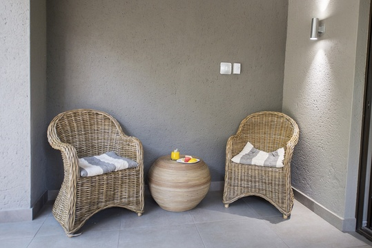 Patio seating Area, one-bedroom apartment